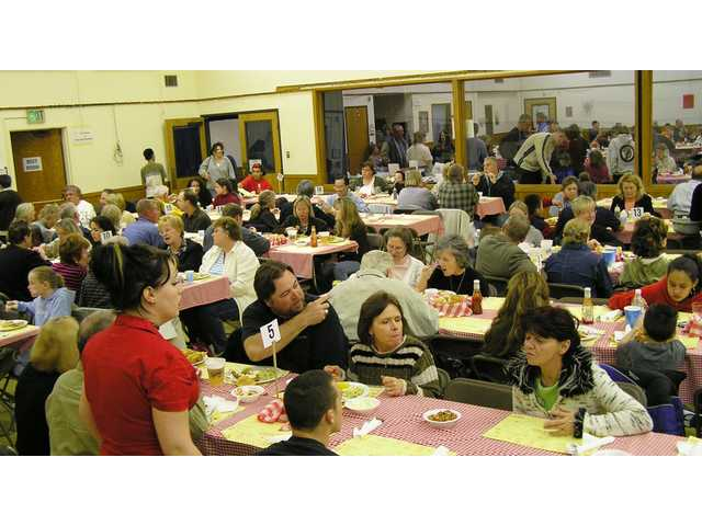 The St. Clare's cafeteria holds almost 500 people, and around 700 pass through on Friday nights from 4:30 p.m. to 8 p.m. during Lent for the Canyon Country church's annual Lenten Fish Fry.