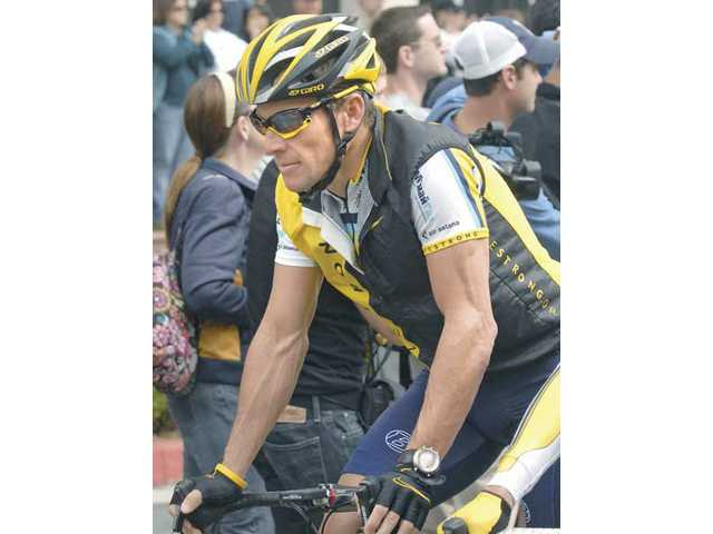 Lance rides through SCV: Still hopes of a future finish