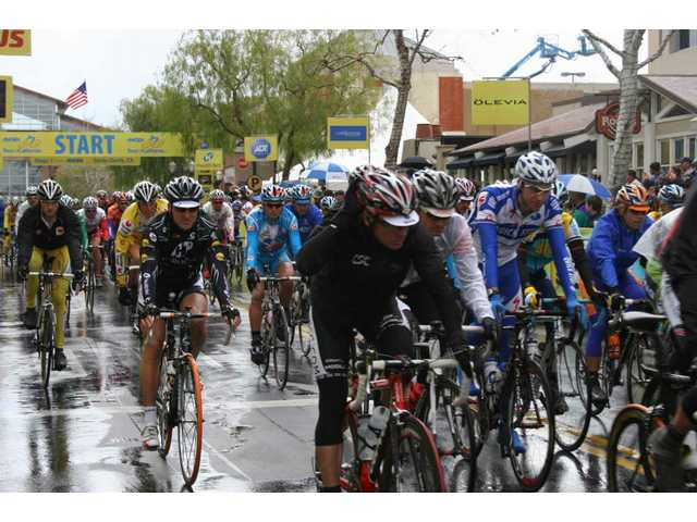 Stage 7 of the eight-day race started at noon Sunday at Valencia Town Center.