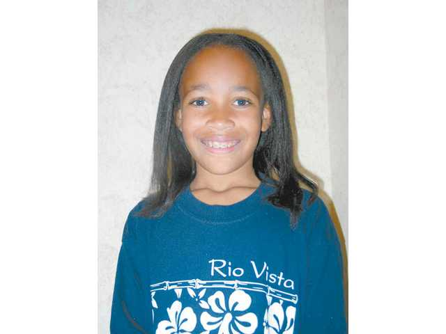 "Bria Smith presented her poem ""Self-Discipline"" at the ""We Are the Future!"" program at Rio Vista on Friday."