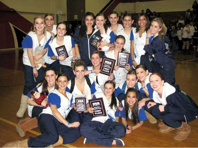 The Saugus High Dance Team displaying the plaques they won at a regional dance competition in Glendale Saturday. Saugus High School is hosting a United Spirit Association Regional Dance Competition Saturday. Competing this year from the Santa Clarita Valley are Canyon, Hart, Valencia, West Ranch and Saugus high schools.