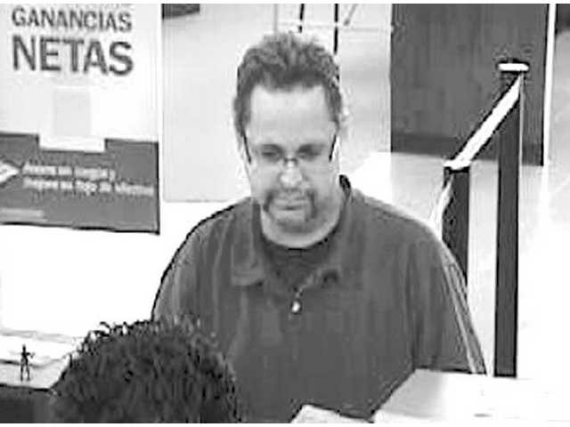 Bank of America surveillance photo captures suspect in Wednesday's Canyon Country robbery.