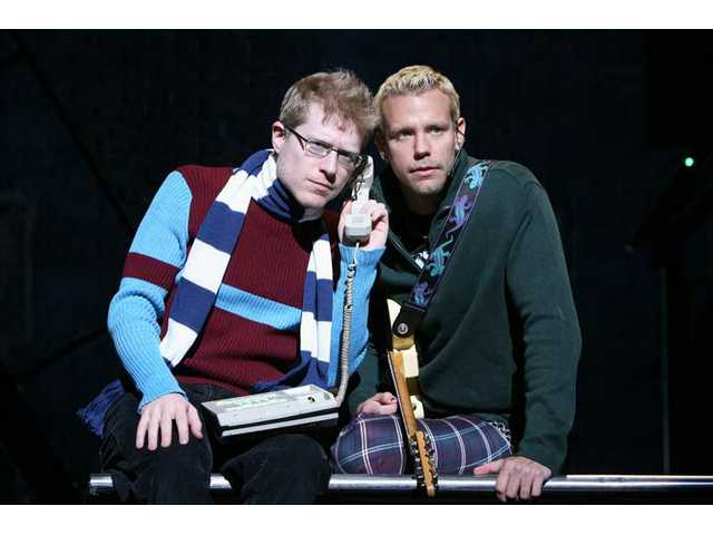 "Anthony Rapp as ""Mark"" and Adam Pascal as ""Roger"" in ""Rent"" at the Pantages Theatre."