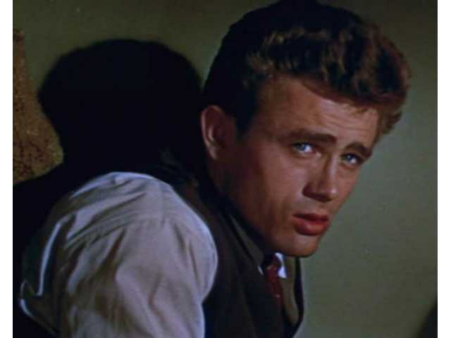 "James Dean, seen in a still from the film ""East of Eden,"" died at age 24 after passing through the Santa Clarita Valley. His most famous film, ""Rebel Without a Cause,"" will be screened Saturday."
