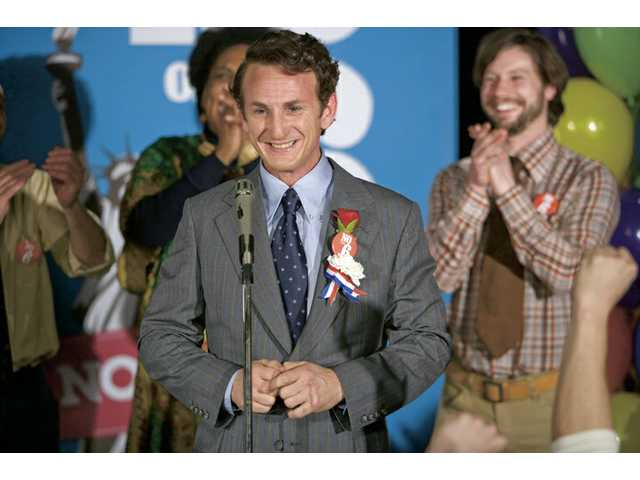 "Sean Penn won his second Oscar as Best Actor for his portrayal of Harvey Milk in the biopic ""Milk."""