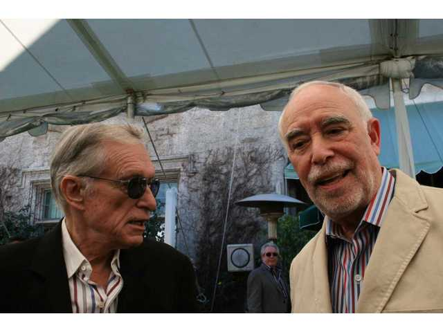 Playboy founder and Playboy Jazz Festivals executive producer Hugh Hefner and president Dick Rosenzweig hosted a Playboy Mansion press conference Wednesday, when the artist lineup for the June festival at the Hollywood Bowl was revealed.