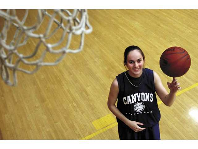 College of the Canyons women's basketball player Andrea Bobic has averaged 20.2 points and 15 rebounds a game in Western State Conference play this year. The sophomore is playing the post position for COC.