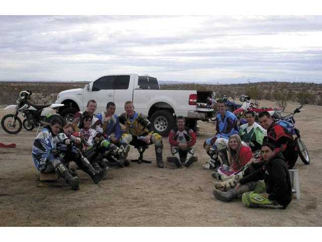 In a tribute to Castaic teen Taylor LaKamp, who died during a motorcycle accident last month, more than a dozen friends and relatives gathered in California City on Feb. 23 to ride their dirtbikes.