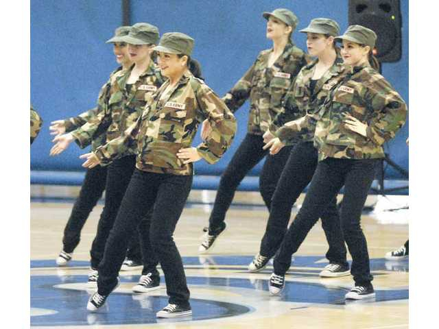 The Hart High team performs a Hip Hop number at the USA Regional Competition on Saturday at Saugus High.
