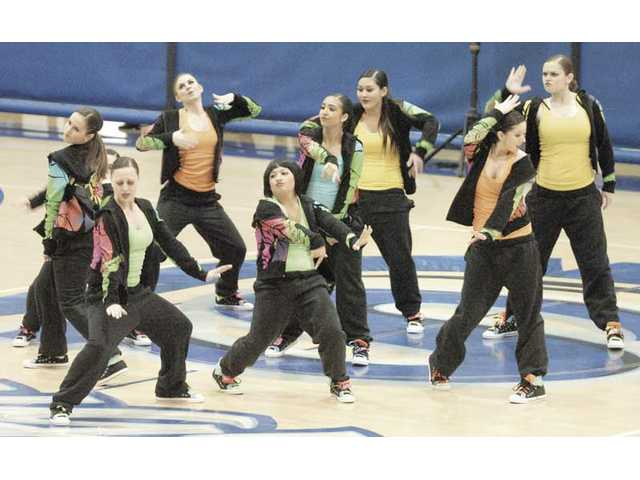 The team from West Ranch High School performs a Hip Hop dance number at the USA Regional Competition on Saturday at Saugus High.