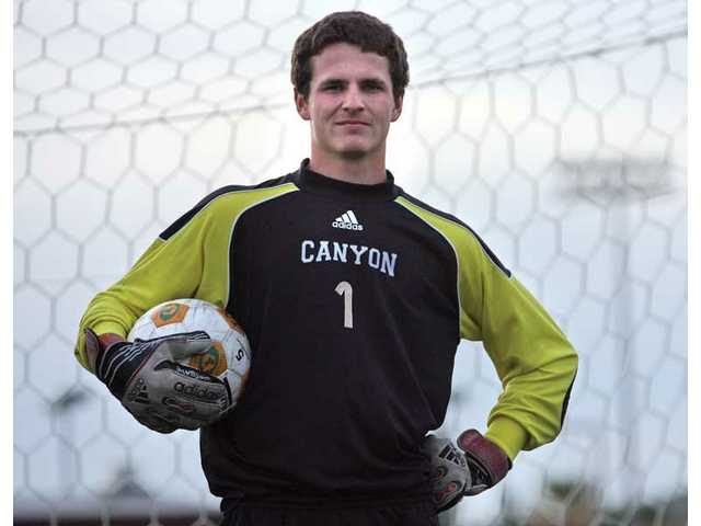 Canyon goalkeeper Andrew Wilson is a four-year varsity starter and the reigning Foothill League Player of the Year. His intelligence both on the field and in the classroom is a big reason for those accomplishments, as well as his cool demeanor in the net.