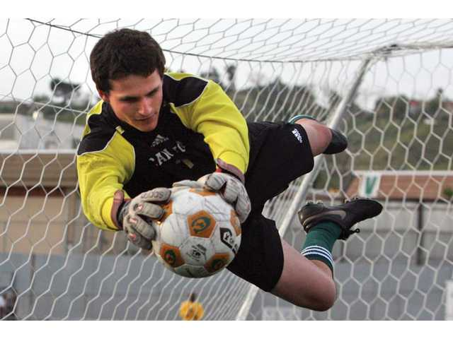 Canyon goalkeeper Andrew Wilson is a four-year varsity starter and the reigning Foothill League Player of the Year. Canyon lost on Tuesday in the CIF-Southern Section Division III semifinals, ending its season.