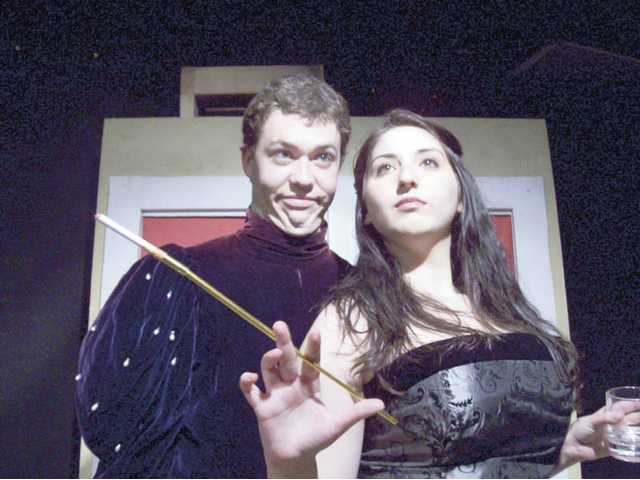 "Matt McClenahan and Lorn Vriniotis perform in ""The Actor's Nightmare."""