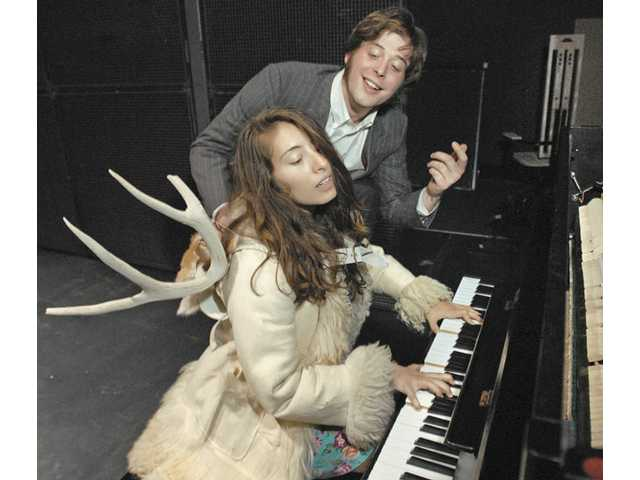 Frida Foldoi ,left, (Alexandra Kuskin) and John Gabriel Borkman (Evan Hyde) share a moment at the piano.
