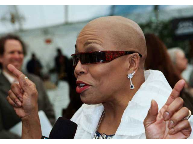 Dee Dee Bridgewater makes a point at Playboy Mansion Feb. 27, when the artist lineup for the June Playboy Jazz Festival was unveiled.