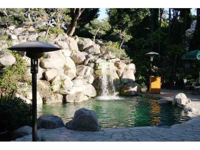The infamous grotto at the Playboy Mansion. If those rocks could talk....