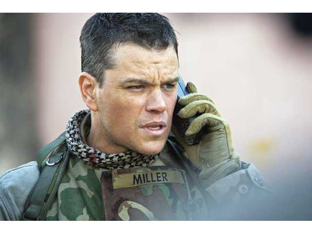 "Matt Damon is shown in a scene from the thriller ""Green Zone."" The film opens locally this week."