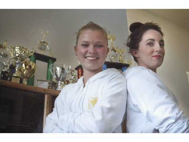 Emily Stewart, 14, and Daryl Goldes (right), 20, attend the O'Connor School of Irish Dancing. Next week they will be competing at the 2008 World Irish Dancing Championship in Belfast, Northern Ireland.