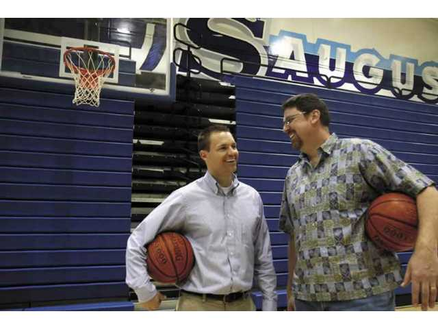 Saugus replaced both its boys and girls head basketball coaches yesterday. Derek Ballard, left, will be the boys head coach and Kent Eaton, right, is taking over the girls program.