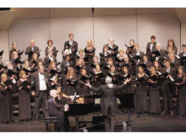 The Santa Clarita Master Chorale will perform at the Santa Clarita Performing Arts Center this Sunday.