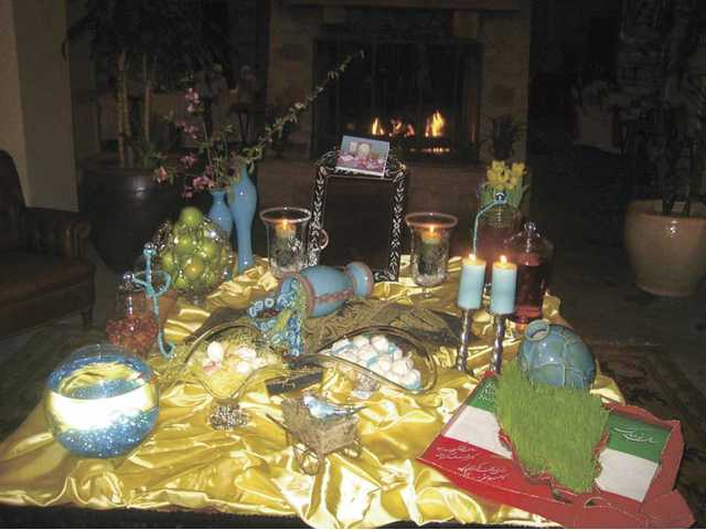 The Seven S's set out on a table for the Norooz celebration