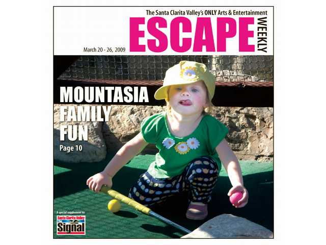 Two-year-old Sophia Mangione takes a rest after playing miniature golf at Mountasia Family Fun Center.