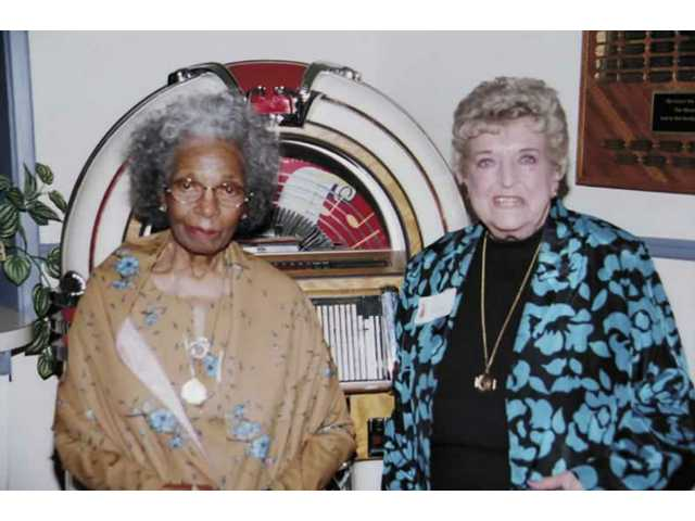 Doreetha Daniels, left, and Juanita Heinly are founding members of the Agua Dulce Women's Club, which formed in 1948.