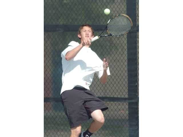 Valencia senior Tyler Gottshall will be among the top singles players in the Foothill League this year.