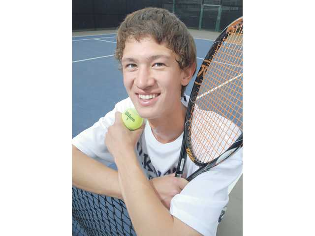 In only his junior year at Valencia High, No. 1 singles player Tyler Gottshall has transformed himself from a timid freshman to a vocal leader for the young Vikings tennis team.