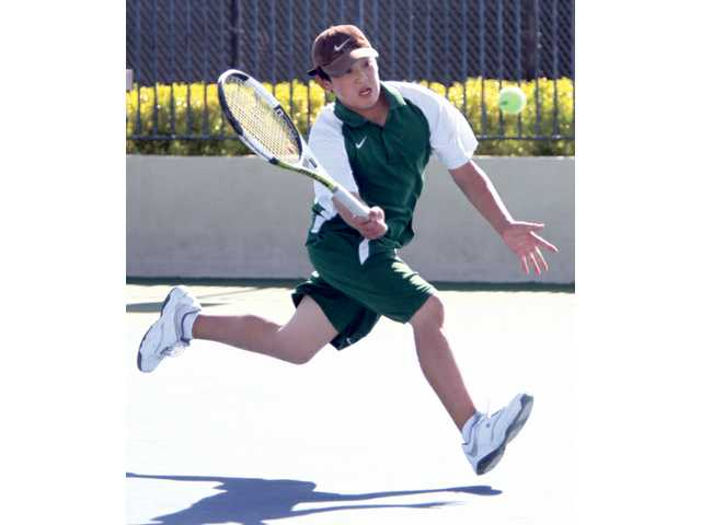Canyon sophomore and No. 1 singles player Jason Ferliano looks to repeat as league singles champ.