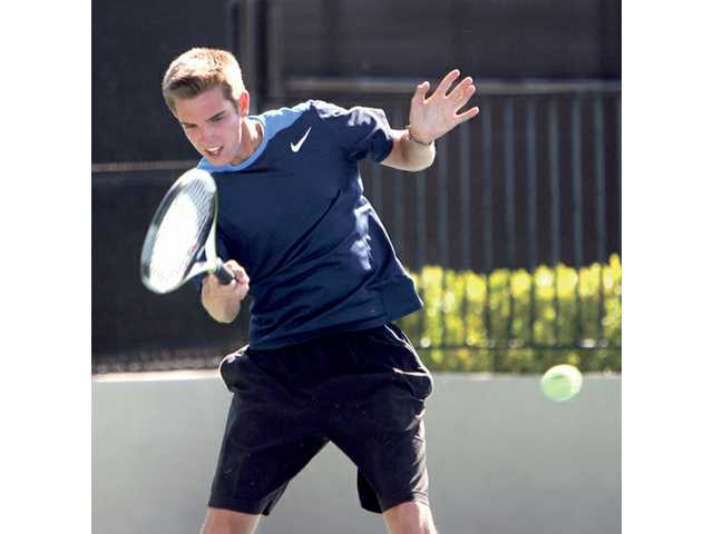 West Ranch's No. 1 singles player Jordan Hovis will look to end his high school career on top after four years on varsity, helping build the program.