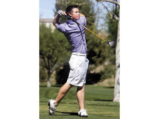 Valencia's Taylor Levin tees off Tuesday at Valencia Country Club. He shot a 79.