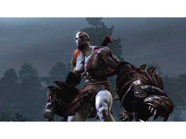 "A scene from the video game ""God of War."" The game may be a bit limited in its flexibility."