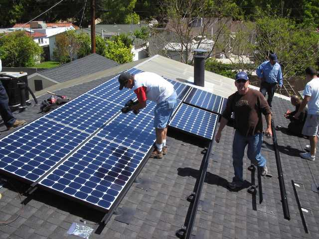 Solar panels were installed on a local home by Mark Figaero's company, Green Convergence of Valencia