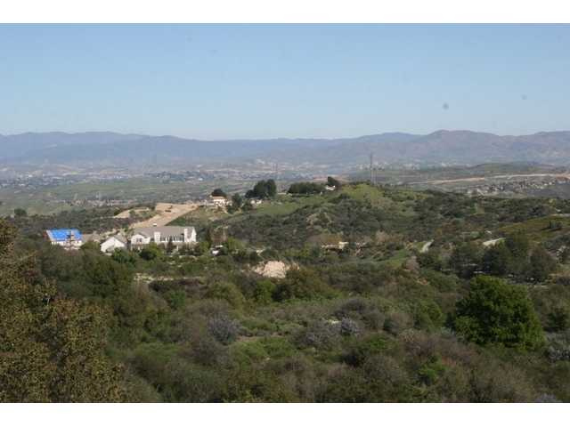 View from high up Wildwood Canyon to the east toward downtown Newhall below.