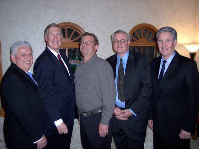 Left to right, nominees for 2009 SCV Man of the Year: Steve Sturgeon, Kerry Carmody, Tom Schmidt, Chris Ball and Rick Patterson. Not pictured: Greg Amsler, Wayne Crawford and Craig Peters.