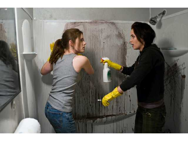 "Amy Adams and Emily Blunt in a scene from ""Sunshine Cleaning."" Its producers happen to have been behind ""Little Miss Sunshine,"" as well. But really, that's where the similarities end; despite its perky title, ""Sunshine Cleaning"" is much darker as it ventures into suicide, adultery and loss."