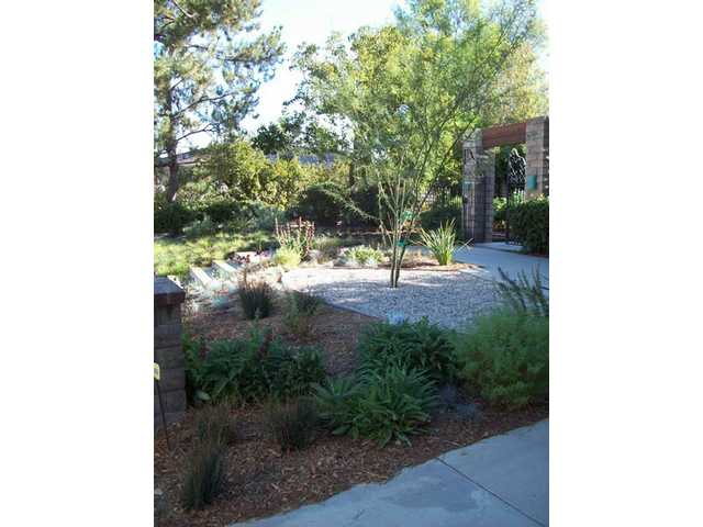 This home in Woodland Hills will also be one of the stops on the tour. It has a terraced front garden, which favors desert plants, such as ocotillo (the tree-like plant in the gravel patch).
