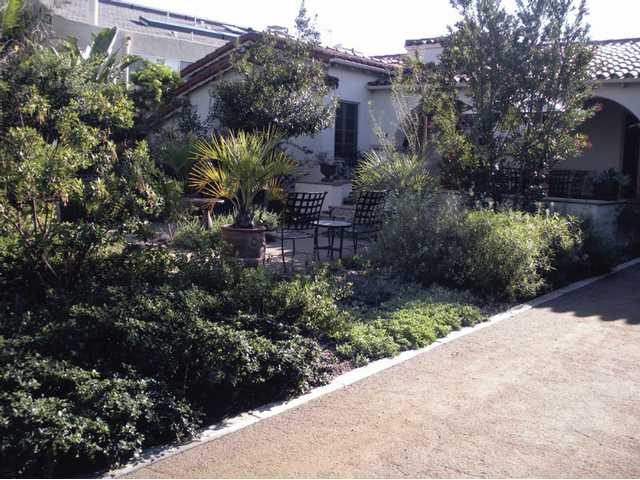 This Santa Monica home will be on the Native Plant Garden Tour this weekend. It features satellite-managed irrigation control. Myrica californica (Pacific wax myrtle), once endemic to Santa Monica Canyon, was planted for screening around the patio.
