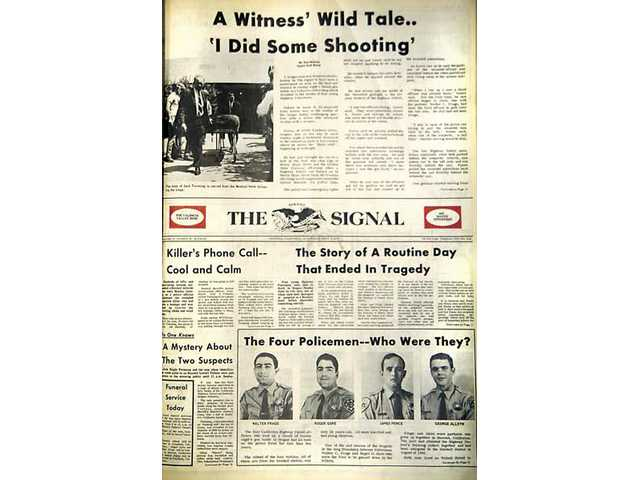 Photo of The Signal's front page on April 6, 1970.
