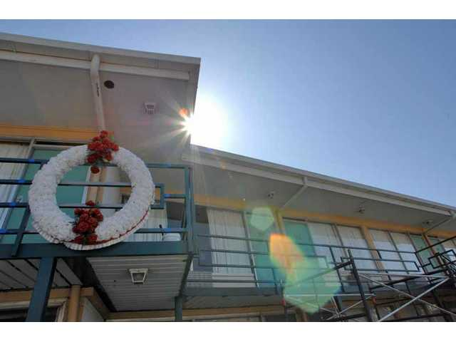 The sun shines on the balcony of the Lorraine Motel in Memphis, Tenn., Tuesday, March 25, 2008. The site where the Rev. Dr. Martin Luther King was assassinated on April 4, 1968, the motel is now part of the National Civil Rights Museum.