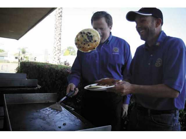 At the Bethlehem Lutheran Church Saturday, money raised duringa pancake breakfast went to LSS Community Care Center to help the Santa Clarita Valley's homeless.