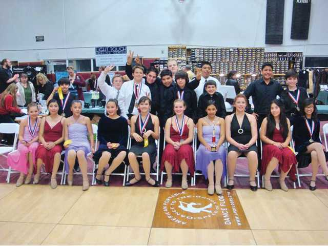 Junior high ballroom dancers receive honors