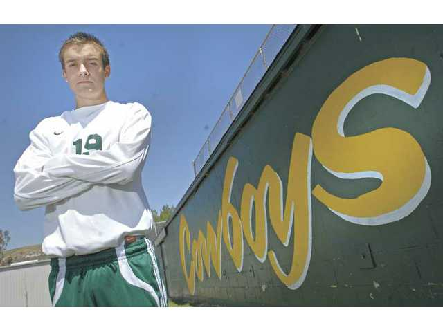 Canyon High senior soccer player Alex McCaslin was an All-Foothill League first-teamer and now the 2008-09 All-SCV Boys Soccer Player of the Year. He helped lead the Cowboys to a league title.