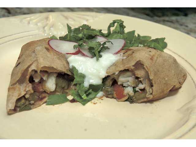 Graham's chimichangas are topped with non-fat yogurt, cilantro and radish for a flavorful, low-calorie version of traditional sour cream. Graham is one of 31 finalists. The winner receives a $2,500 Pottery Barn gift card. Winners will be determined by online votes.