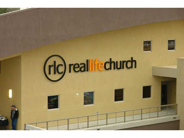 "Real Life Church holds its first service Sunday, April 11, 2010. The new 42,000 square feet ""green"" worship facility in Valencia will have its grand opening this Sunday."