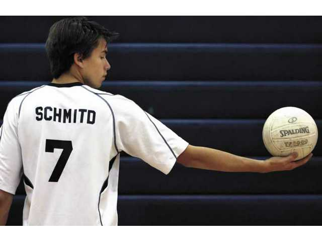 Senior Caio Schmitd is West Ranch's starting outside hitter. His father Cesar played for the national team in Brazil and also for the Minas Gerais state team there. Caio may try out for the Minas Gerais team later this year.