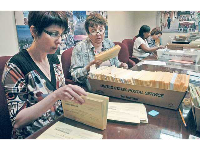 Mail-in ballots up