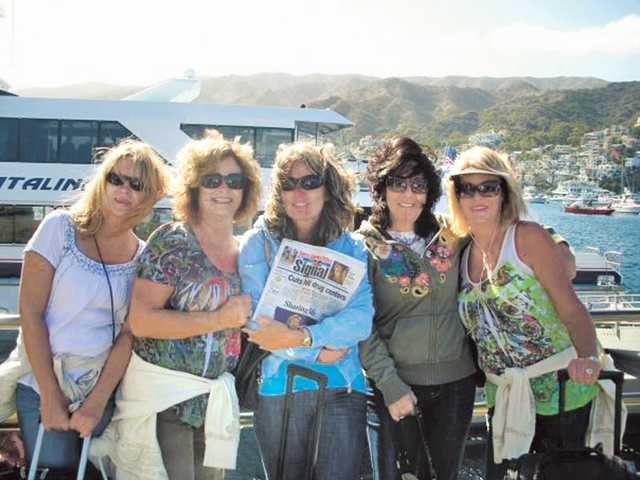 "The annual ""girls trip"" to Catalina with, from left to right, Leslie Caldaronello, Mary Cornelius, Linda Butler, Kathy Watterson and Laina Neasi."
