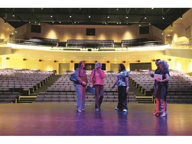 Several SCV residents take a tour of College of the Canyons Performing Arts Center, which recently changed its guidelines to allow nonprofit organizations using the facility to use its box office to sell tickets and to serve alcohol.
